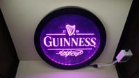 bira logosu levhaları toptan satış-B91 Guinness Vintage Logolar man mağara RGB led Renkli (16 renk) kablosuz kumanda bira bar pub kulübü neon işık burcu Özel hediye