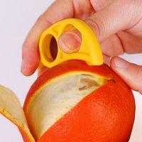 Wholesale orange citrus peeler resale online - Creative Orange Ring Peeler Lemon Slicer Fruit Stripper Easy Open Citrus Knife Kitchen Tool Gadget Random Color