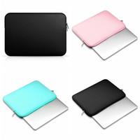 lenovo 13 polegadas venda por atacado-2017 New Soft Laptop Sleeve Bolsas 11 12 13 14 15 polegadas Laptop Bag Capa Para Macbook Air 13 Pro Retina Para ar Lenovo Asus