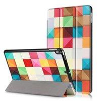 gedruckte ipad abdeckungen großhandel-Tablet-Hüllen für ipad PRO 10,5 Zoll Fashion Print PU-Leder-Standplatz falten dünne Schutzhülle ipad Pro 10.5