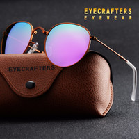 lila frauen sonnenbrille großhandel-Lila tragbare faltbare faltbare Sonnenbrille polarisiert Mens Womens Fashion Retro Vintage Sonnenbrille Fahrspiegel Brillen