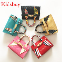Wholesale Shopping Bags For Kids - Kidsbuy Famous brand Handbags for Toddlers Mini Classic stylish purse with scarf Kids Shopping Wallets Preschool girls bag KIDS BAGS KB121
