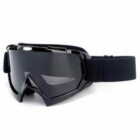 ingrosso graffio della bici-Nuovi occhiali da moto ATV Dirt Bike Riding Goggle Anti-graffio UV400 Eyewear con cinturino regolabile per adulti Motocross in bicicletta