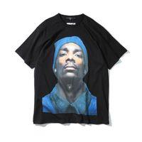 neue hunde zum verkauf großhandel-Neue Heiße verkäufe Schwarz Snoop Dogg Hund Männer t-shirt hip hop Kurzarm Kanye West T-shirts High Street Männer t-shirt