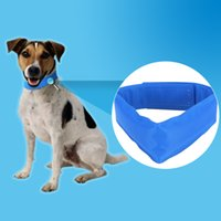 Wholesale pet plastic material - Blue Dog Cooling Collars Safe Gel Material Pet Summer Sunstroke Prevention Cooling Neck Collar For Small Medium Large Dogs