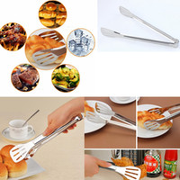 Wholesale bread clips - Stainless Steel Bread Clip Safe Food Tongs Anti Heat Tea Clips Non-slip Pastry Clamp Nice Bar Ice Tong Home Baking Tools GGA461 120PCS