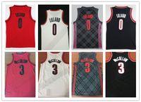 venta al por mayor al por mayor-NCAA 2018 New Men # 0 Damian Lillard City Jerseys, Venta al por mayor barato 3 # CJ McCollum All cosida RipCity Lillard Basketball Jersey