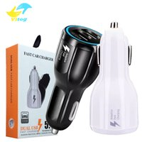 Wholesale 12v dual - Car Charger 9V 2A 12V 1.2A QC3.0 fast car charge 3.1A Dual USB Adapter Charger for smartphones with package