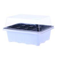 ingrosso vasi per bambini-Vassoio di semenzaio germogliare 12 cavità vivaio vassoio vassoio coperchi box per giardinaggio bonsai 18x14x6 cm spedizione gratuita