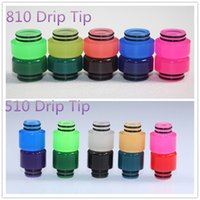 Wholesale Disposable Changing - color change tfv8 baby resin drip tip 510 disposable wide bore drip tips 810 threa rba tank tfv8 tfv12 driptip atomizer tip tops mouthpiece