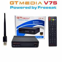 receptor de satélite wifi compatible al por mayor-GTMEDIA V7S Freesat V7 HD con USB Wifi DVB-S2 HD Receptor de TV satelital Soporte PowerVu Biss Key Cccamd Newcamd