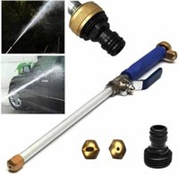 Wholesale high pressure washer nozzle - Portable Aluminium High Pressure Power Washer Gun Car Spray Cleaner Garden Watering Nozzle Jet Hose Wand Cleaning Watering Tool GGA651