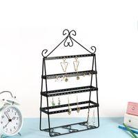 Wholesale floor accessories online - Creative Jewelry Display Stand Solid Metal Earrings Holder Multifunctional Bedroom Dressing Table Accessories Storage Racks Hot Sale md XY