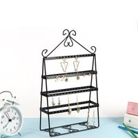 Wholesale wholesale jewelry racks - Creative Jewelry Display Stand Solid Metal Earrings Holder Multifunctional Bedroom Dressing Table Accessories Storage Racks Hot Sale 25md XY