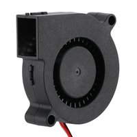 Wholesale 12v blower fan computer for sale - New Black Brushless DC Cooling Blower Fan Wires V A w x50x15mm