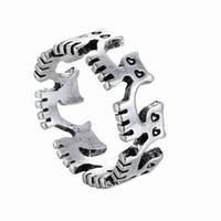 paar ring katze großhandel-XH Kleine Commodity Großhandel Mode Katze Zubehör Kreative Tide Eröffnung Ring Männer und Frauen Paare