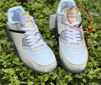 Wholesale Usa Ties - The 10 90 Ice Blue White AA7293-100 Casual Shoes for Women Men Oregon USA Cystal Sneakers With Box Laces Zip Tie 5.5-13