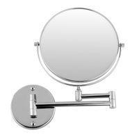 duvar yuvarlak aynalar toptan satış-Krom Yuvarlak Çift taraflı 360 Deg 7X Büyüteç Ayna 8