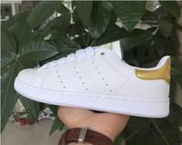 zapatos de deporte de los hombres grandes al por mayor-¡precio promocional! Llegan las rayas de cebra Stan Shoes Zapatillas de deporte de moda para niños de los hombres de las mujeres Zapatos de cuero ocasionales del deporte Zapatos