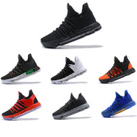 chaussures kd d'orange achat en gros de-2018 Basketball chaussures Kevin Durant 10 All Star Noir Blanc BHM University Red City Series Top qualité KD 10 hommes chaussures de basket Sn