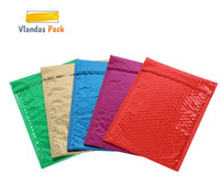 Wholesale mail types - 100pcs lots Colourful Envelope Mailing Bag Bubble Mailer Packaging Shipping Bag JB06005-03