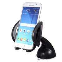 acessórios de celular preto venda por atacado-Novo Suporte Do Telefone Do Carro Acessórios Gps Ventosa Auto Dashboard Windshield Celular BlackCheck Suporte de Montagem Retrátil