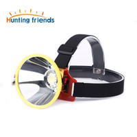 Wholesale power zoom headlamp resale online - 12V External DC Power LED Headllamp Zoom Light Headlamp Large Spot Head Flashlight Torch for Hunting Camping Outdoor Activities