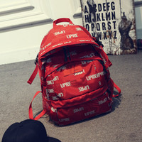 Wholesale traveling shoulder bags for men for sale - Group buy New Fashion Brand Designer Backpack Double Shoulder Bag Luxury Outdoor Traveling Letter Printed Schoolbags for Men Women Students Backpacks