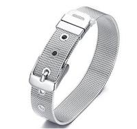 pulseiras de aço inoxidável slides encantadores venda por atacado-5 Pcs preço de atacado 8mm / 10mm de Aço Inoxidável Pulseira Pulseira Acessório de Moda Apto para Letras de Deslizamento Encantos de Alta qualidade