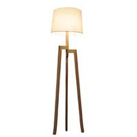 Wholesale floor lighting fixtures - Modern Minimalist 3 Leg Wood Tripod Floor Lamp With Fabric Shade Creative Floor Light For Living Room Study Lighting Fixture FL9