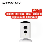 dahua 3mp kameralar toptan satış-Logo ile orijinal Dahua İngilizce IPC-C35 kapalı güvenlik ağı mini PT cctv kamera 3mp bebek monitörü dahili mikrofon hoparlör