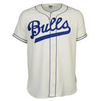 toro de la vendimia al por mayor-Durham Bulls 1947 Home Jersey 100% cosido Bordados Logos Vintage Béisbol Jerseys Cualquier nombre Cualquier número Envío gratis