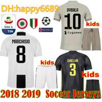 12f4554780d Juv kids soccer Jerseys kits 18 19 RONALDO DYBALA PJANIC Marchisio child  2018 2019 camiseta de futbol Shirt uniforms kits