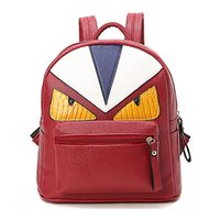 Wholesale unique birds - 2018 Korean New Designer Unique Little Monster Backpack Women Cute Bird Face Backpack School Bags For Women