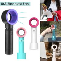 Wholesale air fan bladeless - Zero 9 No Leaf Fan USB Portable Cooling Mini Handheld Bladeless Cooler Air Condition Fan Handy Fans Party Favor OOA5379