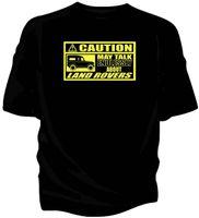 ingrosso comprare camicie classiche-T-shirt classica 'Caution' - 'May Talk Endlessly About ... Acquista a prezzo basso 100% cotone Tee Shirts 100% cotone manica corta
