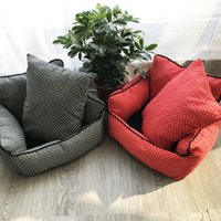 Wholesale pet house beds for sale - Lovely Pet Supplies Sofa Small Dog Kennel Soft House Mat Canvas Bite Cat Bed Sleep Warm Nest my Ww
