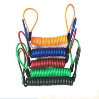 Wholesale wire bike lock resale online - Universal Motorcycle Disc Lock Extensible Minder Reminder Cable Anti Lost Bike Spring Wire Rope Top Quality be gg
