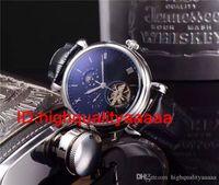 Wholesale Perpetual Moon - flywheetourbillon Golden watch men Complications Perpetual Calendar moon phase PP automatic black dial skeleton wristWatch Men dress Watches