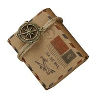 Wholesale mailing christmas gifts for sale - Group buy Vintage kraft paper favor box with compass globe pendants Airplane Air Mail Parcel candy gift box birthday party wedding Christmas decor