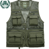Wholesale new tactical vest - ZHAN DI JI PU Brand tactical Vest Men New Arrival Multi pockets Photography Cameraman Vest