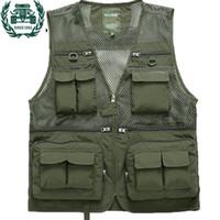 мужские жилеты оптовых-ZHAN DI JI PU  tactical Vest Men 2017 New Arrival Multi-pockets Photography Cameraman Vest 59
