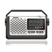 mw mp3 venda por atacado-Degen DE320 2EM1 FM / MW / SW Rádio MP3 Player Portátil Multibanda de Ondas Curtas de Banda Completa de Rádio MP3 Player USB Suporte TF Cartão com LED