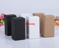 siyah parfüm şişeleri toptan satış-9 boyutu Siyah beyaz Kraft Kağıt karton kutu Ruj Kozmetik Parfüm Şişesi Kraft Kağıt Kutusu Uçucu Yağ Ambalaj kutusu F060503