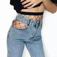 pernas cobrir os pés venda por atacado-2018 Partido Oco Out Sexy Meia-calça Feminina de Malha Meias Pretas Meia-calça Meia Arrastão Meias Arrastão Do Clube Do Partido Malharia