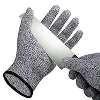 Wholesale level gloves resale online - Safety Anti Cut Resistant Gloves Cut Proof Stab Resistant Metal Mesh Butcher Gloves Food Grade Level Kitchen Tools B