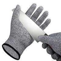 luva de malha venda por atacado-Segurança Anti Corte Luvas Resistentes Cut Proof Stab Resistente Mesh Butcher Luvas de Grau Alimentício Nível de Metal 5 Cozinha Ferramentas B