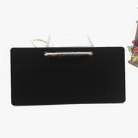 ingrosso turchese antico tibetano-Mini lavagna Lavagna in legno Hanging Message Board 18x8x0.3cm Etichetta regalo Buffet Black Board Shop Bar Forniture per ufficio a casa