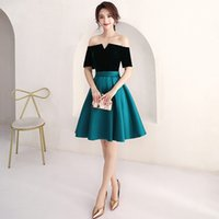 Wholesale coctail prom dress - New Design Cheap Coctail Bridesmaid Homecoming Dresses Knee Length Off Shoulder Short Special Occasion Graduation Dresses for Prom Party