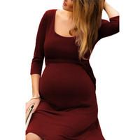 ingrosso donne gravide calde-Nuova vendita calda donne incinte abito lungo allattamento abito da sera tuta robe vestiti di maternità taglia S-2XL abiti infermieristici